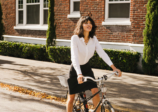 Iva Jean pencil skirt for cycling